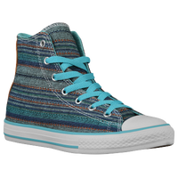 Converse All Star Hi Summer Crafted - Boys' Grade School - Light Blue / Navy