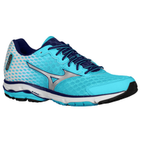 Mizuno Wave Rider 18 - Women's - Light Blue / Silver