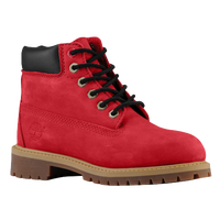 "Timberland 6"" Premium Waterproof Boots - Boys' Preschool - Red / Brown"