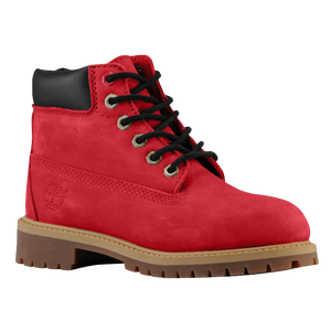 "Timberland 6"" Premium Waterproof Boots - Boys' Preschool - Red Nubuck"