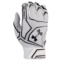 Under Armour Yard Clutchfit Batting Gloves - Men's - White / Black