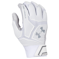 Under Armour Yard Clutchfit Batting Gloves - Men's - White / Grey