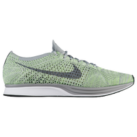 Nike Flyknit Racer - Men's - Light Green / Grey