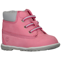 "Timberland 6"" Crib Bootie - Girls' Infant - Pink / Grey"