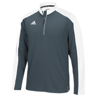 adidas Team Modern Varsity L/S 1/4 Zip - Men's - Grey / White
