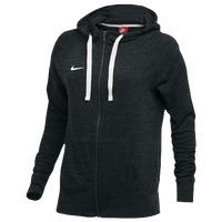 Nike W NK GYM VNTG HOODIE FZ - Women's - Black / Off-White