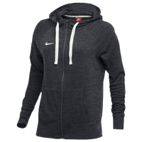 Nike W NK GYM VNTG HOODIE FZ - Women's - Grey / Off-White