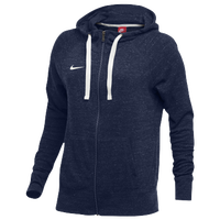 Nike W NK GYM VNTG HOODIE FZ - Women's - Navy / Off-White