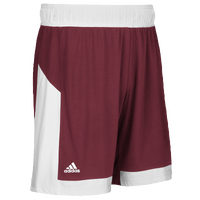 adidas Team Commander Shorts - Men's - Maroon / White