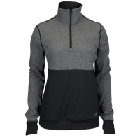 adidas Team Climalite Twist 1/2 Zip - Women's - Black / Grey