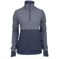 adidas Team Climalite Twist 1/2 Zip - Women's - Navy / Grey