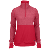 adidas Team Climalite Twist 1/2 Zip - Women's - Red / Red