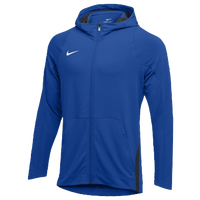 Nike Team Hyperelite Fleece Hoodie - Men's - Blue / Grey