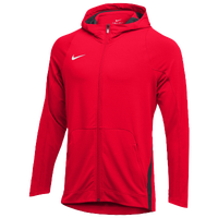 Nike Team Hyperelite Fleece Hoodie - Men's - Red / Grey