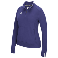adidas Team Climalite 1/4 Zip - Women's - Purple / White