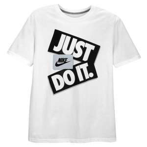 Nike Graphic T-Shirt - Men's - White/Silver/Black