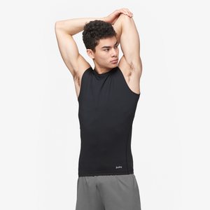 Eastbay EVAPOR Sleeveless Compression Crew - Men's - Black