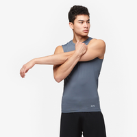 Eastbay EVAPOR Sleeveless Compression Crew - Men's - Grey / Grey