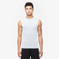 Eastbay EVAPOR Sleeveless Compression Crew - Men's - All White / White