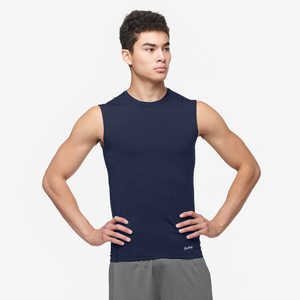 Eastbay EVAPOR Sleeveless Compression Crew - Men's - Navy