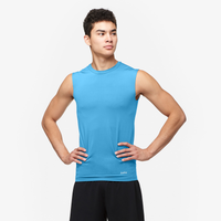 Eastbay EVAPOR Sleeveless Compression Crew - Men's - Light Blue / Light Blue