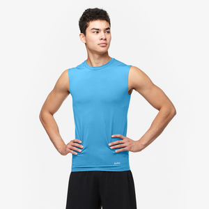 Eastbay EVAPOR Sleeveless Compression Crew - Men's - Columbia Blue