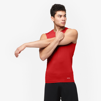 Eastbay EVAPOR Sleeveless Compression Crew - Men's - Red / Red