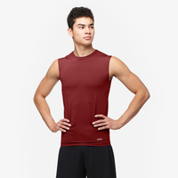 Eastbay EVAPOR Sleeveless Compression Crew - Men's - Maroon / Maroon