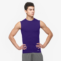 Eastbay EVAPOR Sleeveless Compression Top - Men's - Purple / Purple