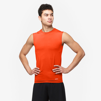 Eastbay EVAPOR Sleeveless Compression Crew - Men's - Orange / Orange