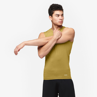 Eastbay EVAPOR Sleeveless Compression Crew - Men's - Tan / Tan