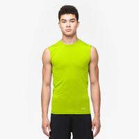 Eastbay EVAPOR Sleeveless Compression Crew - Men's - Yellow / Yellow