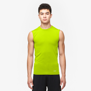 Eastbay EVAPOR Sleeveless Compression Crew - Men's - Fierce Yellow