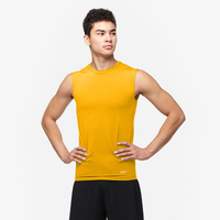 Eastbay EVAPOR Sleeveless Compression Crew - Men's - Gold / Gold