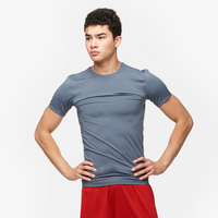 Eastbay EVAPOR Compression S/S Crew Top - Men's - Grey / Grey
