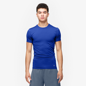 Eastbay EVAPOR Compression S/S Crew Top - Men's - Royal