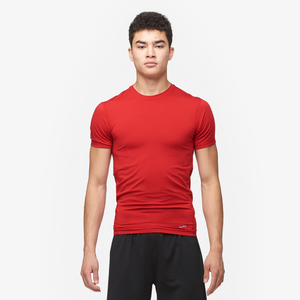 Eastbay EVAPOR Compression Crew - Men's - Red-Scarlet