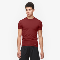 Eastbay EVAPOR Compression S/S Crew Top - Men's - Maroon / Maroon