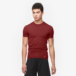 Eastbay EVAPOR Compression S/S Crew Top - Men's - Cardinal