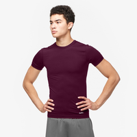 Eastbay EVAPOR Compression S/S Crew Top - Men's - Dark Maroon