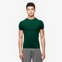 Eastbay EVAPOR Compression S/S Crew Top - Men's - Dark Green / Dark Green