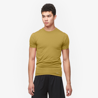 Eastbay EVAPOR Compression S/S Crew Top - Men's - Tan / Tan