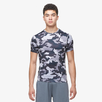 Eastbay EVAPOR Compression S/S Crew Top - Men's - Grey / Black