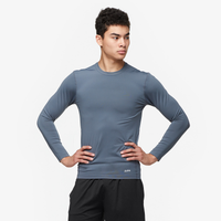 Eastbay EVAPOR Long Sleeve Compression Crew - Men's - Grey / Grey