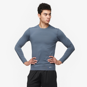 Eastbay EVAPOR Long Sleeve Compression Crew - Men's - Charcoal