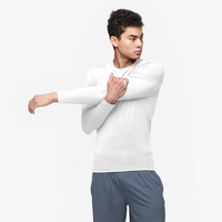 Eastbay EVAPOR Long Sleeve Compression Crew - Men's - All White / White