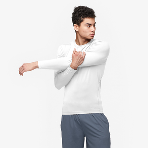 Eastbay EVAPOR Long Sleeve Compression Crew - Men's - White