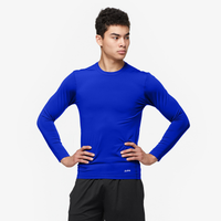 Eastbay EVAPOR Long Sleeve Compression Crew - Men's - Blue / Blue