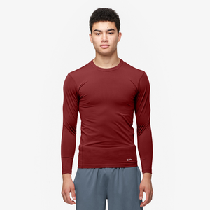 Eastbay EVAPOR Long Sleeve Compression Crew - Men's - Cardinal