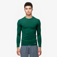 Eastbay EVAPOR Long Sleeve Compression Crew - Men's - Dark Green / Dark Green
